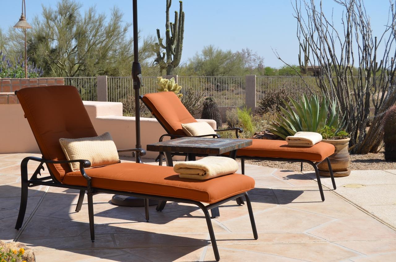 Sun lounge area