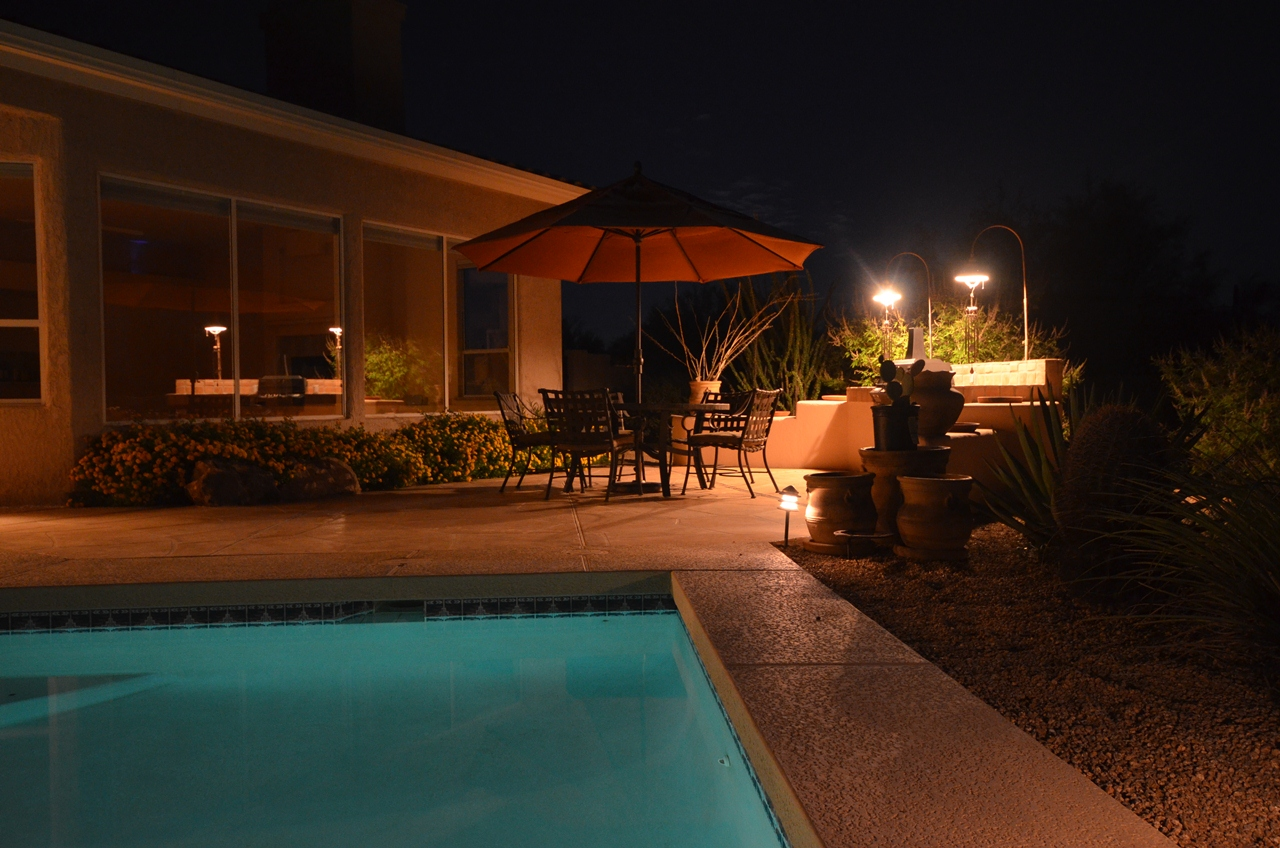 Grill area seen from the pool